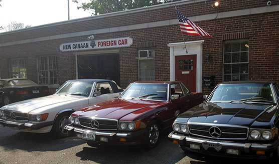 Clic Cars In Front Of New Canaan Foreign Car Service